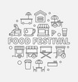 food festival line street vector image