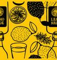 fruits lemonade rosemary herbs seamless pattern vector image vector image