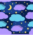 good night seamless pattern vector image vector image