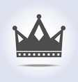 gray colors crown icon symbol vector image vector image