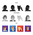 hairdresser cosmetic salon and other web icon vector image vector image