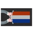 Hand made flag of Holland vector image