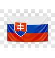 hanging flag slovakia slovak republic vector image
