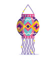 happy diwali festival decorative hanging lantern vector image vector image