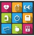 Healthy lifestyle iconset for fitness app vector image vector image