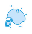 helmet icon design vector image
