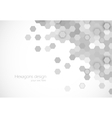 Hexagons background vector image vector image