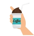 iced coffee drink vector image