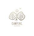 logo camping vector image