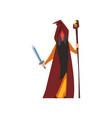 magician wizard fantasy magical character vector image vector image