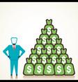 men with lots of money vector image vector image