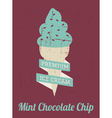 Mint Ice Cream Poster vector image vector image