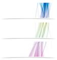 Modern line flyer colorful design template vector image vector image