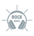 modern rock music logo simple gray style vector image vector image