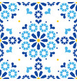 moroccan or portuguese seamless pattern vector image vector image
