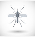 mosquito flat icon vector image vector image