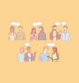 multicultural people communicate together vector image