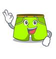 okay cartoon sport fashion shorts for jogging vector image vector image