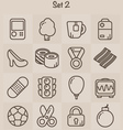 Outline Icons Set 2 vector image vector image