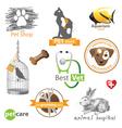 pet logo vector image vector image