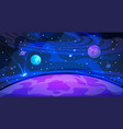 planet space background sky galaxy universe flat vector image