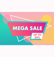 sale banner template in vibrant colors sale vector image vector image