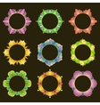 Set of 9 round frames vector image vector image