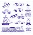 set of vintage transport vector image vector image