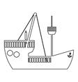 ship boat icon image vector image vector image