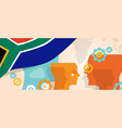 south africa concept thinking growing vector image vector image