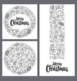 template for greeting card merry christmas vector image vector image