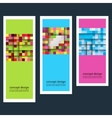 Three abstract sticker squares eps vector image vector image