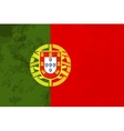 True proportions Portugal flag with texture vector image