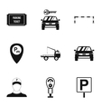 Valet parking icons set simple style vector image vector image