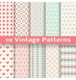 Vintage fashionable seamless patterns tiling vector image
