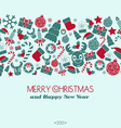 Vintage New Year and Christmas Card Christmas vector image vector image