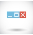 Web navigation button vector image vector image