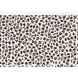 white leopard print seamless pattern with brown vector image vector image