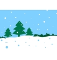 winter cartoon landscape vector image vector image