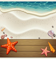 wood and sand background vector image vector image