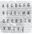 stencil grunge font vector image