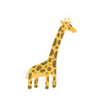 cute giraffe character in flat style zoo theme vector image