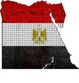 Egypt map with flag inside vector image