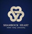 abstract shamrock heart symbol vector image vector image