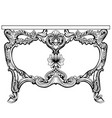 baroque console table engraved french vector image vector image