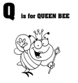 Bee cartoon with letter vector image vector image