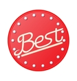 Best in red circle badge icon cartoon style vector image