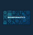 bioinformatics blue outline banner linear vector image