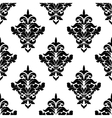 Black and white victorian floral seamless pattern vector image vector image