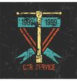 Car service emblem vector image vector image